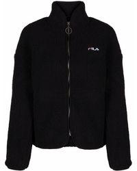 Fila ロゴ フリースジャケット - ブラック
