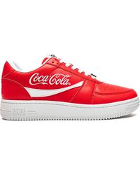 A Bathing Ape X Coca-cola Bapesta Sneakers - Red