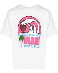 Just Don Miami プリント Tシャツ - ホワイト
