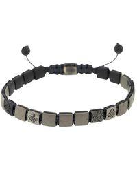 Shamballa Jewels 18kt Black Gold Lock Diamond Bracelet