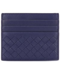 Bottega Veneta Porte-cartes à design tressé - Bleu