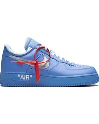 NIKE X OFF-WHITE Air Force 1 Low Mca Sneakers - Blue