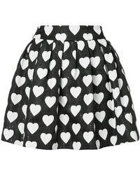 Alice + Olivia - Hearts Print Pleated Skirt - Lyst