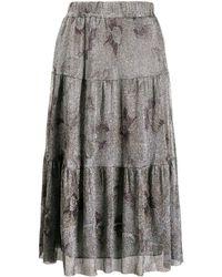 Ba&sh プリント スカート - ブラック