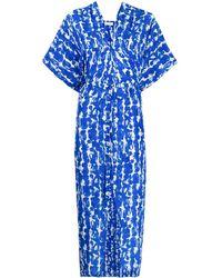 Christian Wijnants Oversized Short-sleeve Dress - Blue