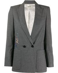 Zadig & Voltaire Blazer con diseño bordado - Gris
