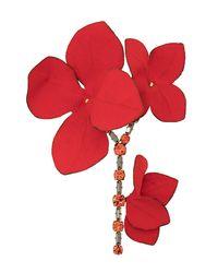 Marni Flower Brooch - Red