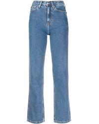 Calvin Klein ハイライズ クロップドジーンズ - ブルー