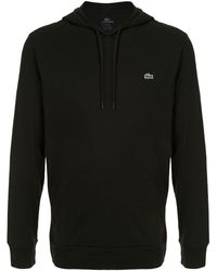 Lacoste Embroidered logo hoodie - Noir