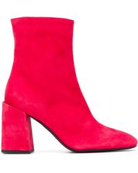 Furla Side Zipped Ankle Boots - Red