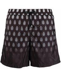 Billionaire Logo-print Swim Shorts - Black
