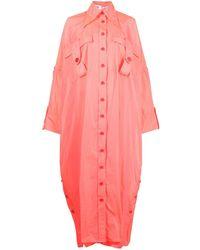 Christopher John Rogers Oversize Shirt Dress - Pink
