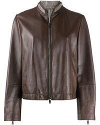 Brunello Cucinelli Байкерская Куртка На Молнии - Многоцветный