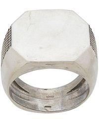 Emanuele Bicocchi Signet Ring - Metallic