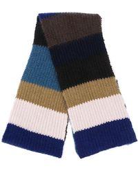 Marni カラーブロック スカーフ - ブラウン