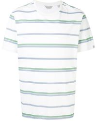 Gieves & Hawkes Camiseta con motivo de rayas - Blanco