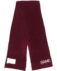 OAMC ロゴ スカーフ - レッド