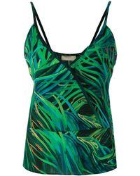 Elie Saab Printed Cami Top - Green