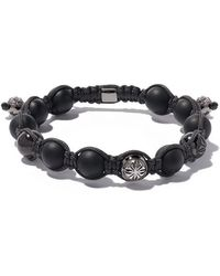 Shamballa Jewels - 18kt Black Gold & Diamond Beaded Bracelet - Lyst