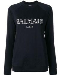 Balmain Logo-print Sweatshirt - Черный