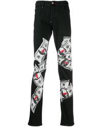 Philipp Plein - Jeans mit Totenkopf-Print - Lyst