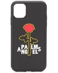 Palm Angels Iphone 11 Hoesje Met Logoprint - Zwart