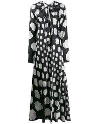 Marni Geometric Pattern Dress - Black