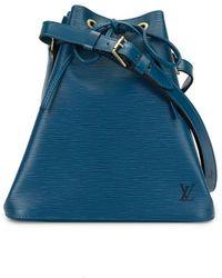 Louis Vuitton 1996 Pre-owned Petite Noe Drawstring Shoulder Bag - Blue