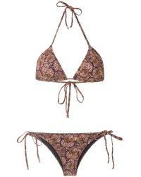 Isolda Borakay Tie Bikini Set - Brown