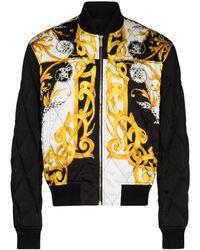 Versace バロックプリント ジャケット - ブラック