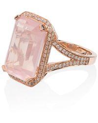 SHAY Кольцо Из Розового Золота С Бриллиантами - Розовый
