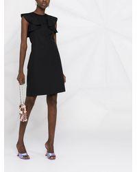 N°21 ラッフルスリーブ ドレス - ブラック