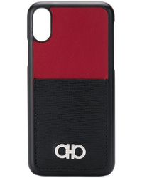 Ferragamo Gancini Plaque Iphone X Case - Black