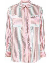 Giada Benincasa ストライプ シャツ - ピンク