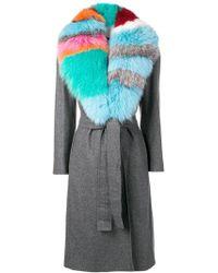 Giada Benincasa - Fur Collared Coat - Lyst
