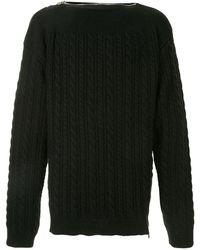 Raf Simons ケーブルニット セーター - ブラック