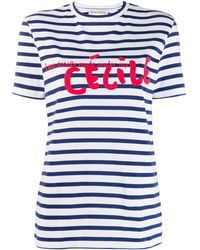 Être Cécile - Striped Logo T-shirt - Lyst