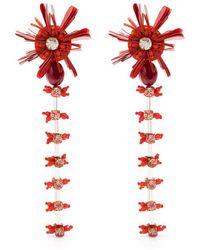 Biyan Pendientes con aplique de cristal - Rojo