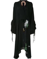 N°21 - Платье С Цветочным Принтом И Оборками - Lyst