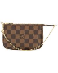 Louis Vuitton Мини-сумка Pochette 2020-го Года - Коричневый