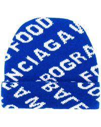 Balenciaga 'World Food Programme' Beanie - Blau