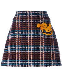 Au Jour Le Jour - Checked Skirt - Lyst