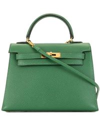 Hermès Pre-owned Kelly 15 Tas - Groen