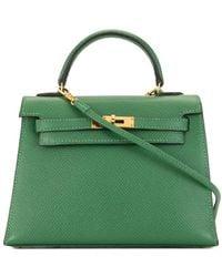 Hermès 1999 Pre-owned Mini Kelly 15 Bag - Green