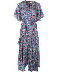 Alexis Alleria Floral-print Midi Dress - Blue