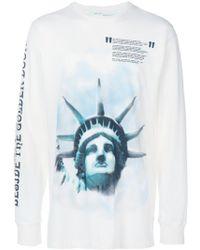 Off-White c/o Virgil Abloh Printed T-shirt - Blue