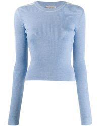Fiorucci Knitted Logo Sweater - Blue
