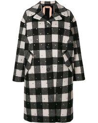 N°21 - Embellished single-breasted coat - Lyst