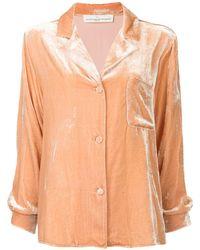 Golden Goose Deluxe Brand Velvet Pyjama Shirt - Pink