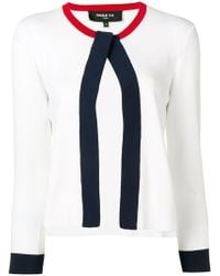 759cfeb63f9 Lyst - Paule Ka Cropped Fitted Cardigan in White